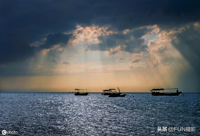 清华大学风景夕阳